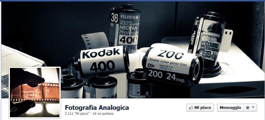 La fotografia analogica su Facebook
