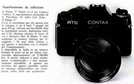 collezione -obiettivo Planar
