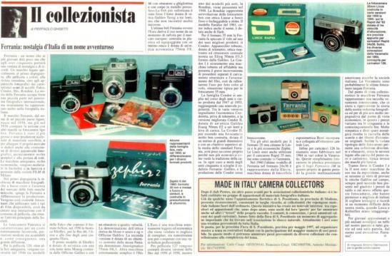 collezionismo - Ferrania