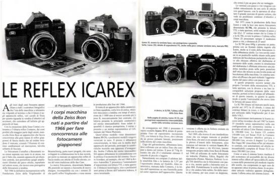 collezionismo - le Icarex