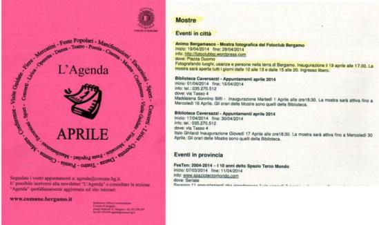 agenda aprile