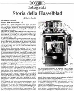 Hasselblad - x dossier