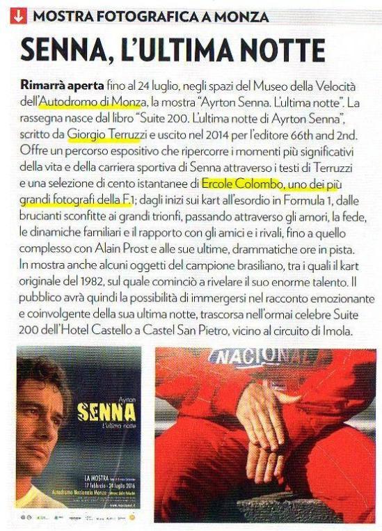 mostra foto F1 Senna