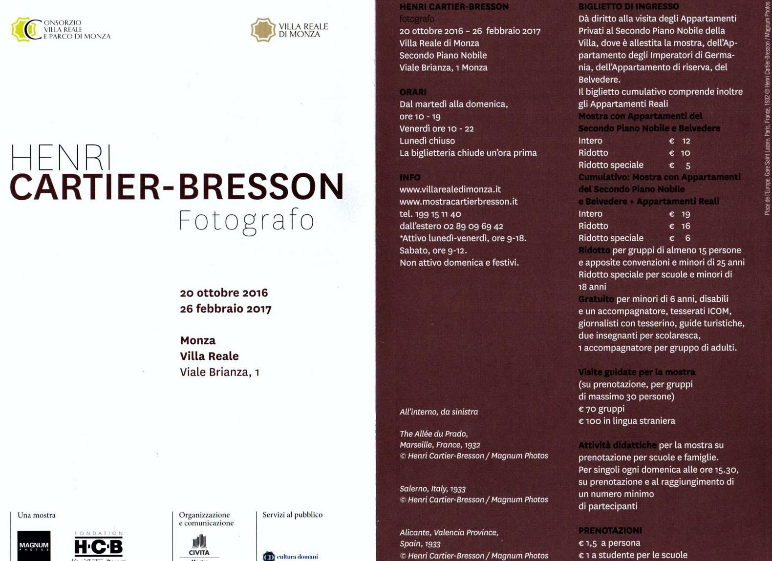 Villa reale fotoclub bergamo for Cartier bresson monza